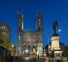 la basilique notre Dame de Montréal de nuit
