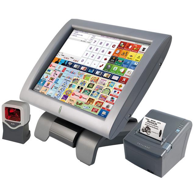 Exemple de caisse enregistreuse avec système tactile