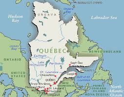 Carte de la province de Québec