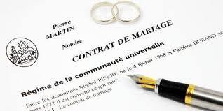 Le contrat de mariage est à réfléchir avant le jours j en fonction de la situation familliale