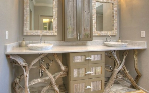 D co salle de bain bois flott d co sphair for Cuisine bois flotte