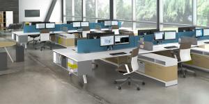 Disposition type d'un espace de travail modern et design