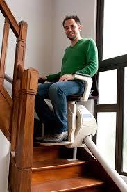 Monte escalier droit avec assise