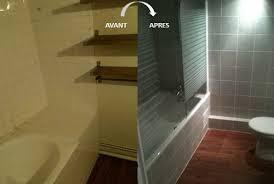 avant et après un relookage de salle de bain