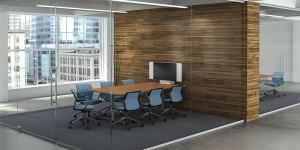 les salles de conférence seront aux parois vitrées pour plus de clareté et d'espace