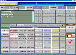 Ecran de caisse enregistreuse plus complexe avec système informatisé