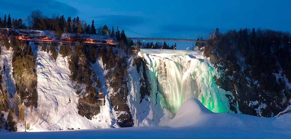 Les chutes de Montmorency sont plus impressionnante que celles du Niagara